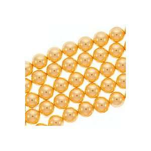 Swarovski Crystal Faux Pearls Bright Gold 8mm (25 Beads