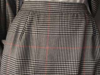 Womens preowned Joyce Sportswear black & white plaid skirt suit, size