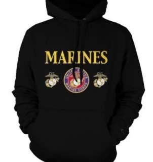United States Marine Corps USMC Marines Seal Emblem Hoodie Sweatshirt