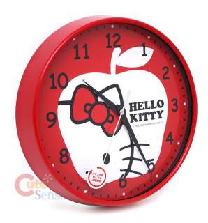 Sanrio Hello Kitty Wall Clock Watch  Silent MoveApple