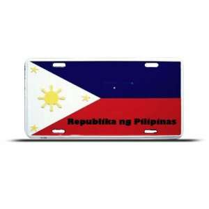 Philippines Republica Flag License Plate Wall Sign