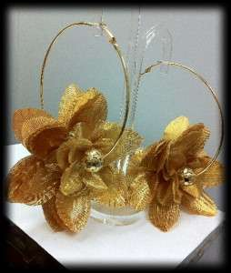 Basketball wives Poparazzi inspired Flower Hoop Earrings