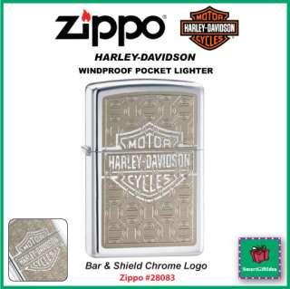 BAR & SHIELD CHROME LOGO_HARLEY DAVIDSON ZIPPO #28083