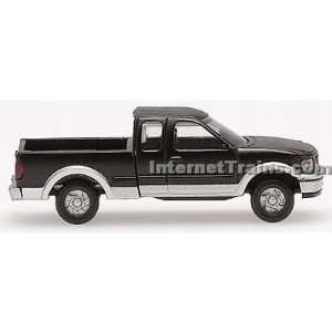 Atlas N Scale Ford F 150 Pickup Truck   Black/Silver (2): Toys & Games