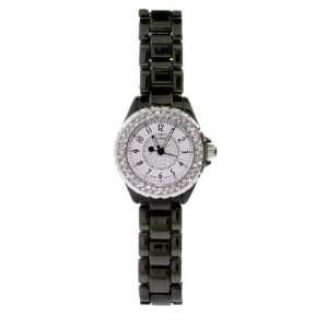 Sparkling CZ Midnight Black Fashion Watch: Eves Addiction: Jewelry
