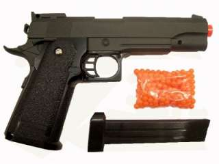 Solid metal high power spring Airsoft Pistol. Nice, heavy duty feel