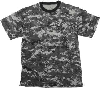 Mens Army Military Digital Camouflage T Shirt