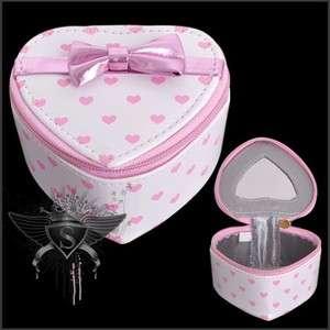 SB096 White Heart Stylish Cute Lolita Makeup Bag