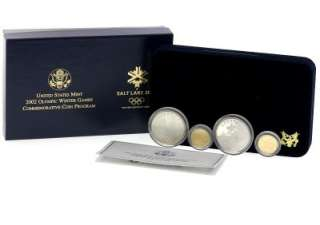 2002 US Salt Lake Olympic Winter Games Commemorative Gold & Silver