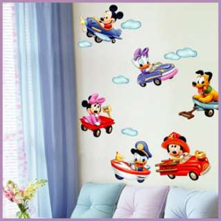 decor stickers mural decals art graphic nersury mickey mouse fly pluto