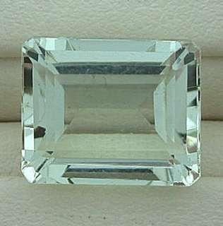 82 Carat Emerald Cut Light Blue Aquamarine Gemstone Gem Stone