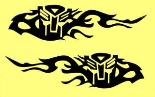 2pcs Transformer Logo Car Motorcycle Mirror Window Decals Patch