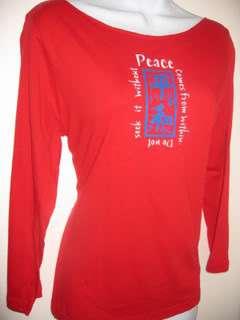 NEWTG yoga Japan Kanji Peace American Apparel shirt top