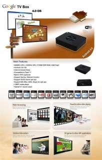 Android 4.0 TV BOX 1080P WIFI HDMI Media Player Cortex A9 1.2GMHz