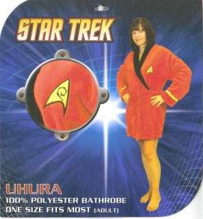 Star Trek TOS Uhura Red Uniform Fleece Dressing Gown Lounging Robe
