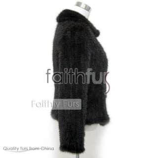 Mink Fur Knitted/Braid Jacket/Sweater/Coat/Overcoat
