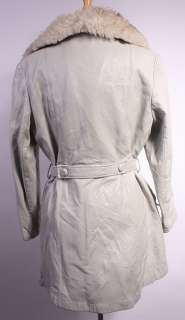 WOMENS VTG SOFT LEATHER/REAL SHEEPSKIN TRIM COAT sz XL