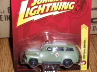 Johnny Lightning FOREVER 50 Chevy Suburban MILITARY Ambulance