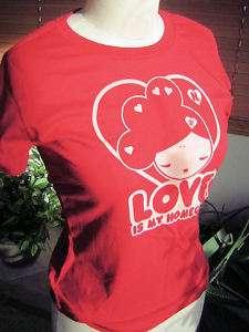 GWEN STEFANI~ LOVE IS MY HOMEGIRL RED SHIRT M