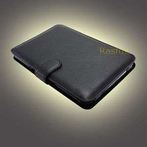 Black  Kindle Keyboard Genuine Leather Cover Case + Screen