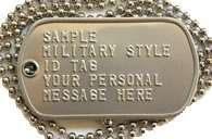 USMC stamped military DOG TAGS soldier ID dogtag marine devil dogs tag