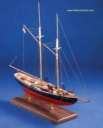 MODEL SHIPWAYS ELSIE FISHING SCHOONER, SOLID HULL WOOD SHIP MODEL KIT