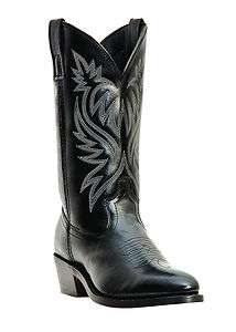 Laredo London Black Leather Western Cowboy Boots Style 4210