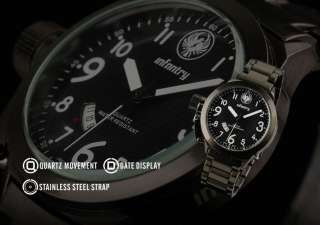 MILITARY New Mens Army Date Sport Fashion Quartz Watch Black