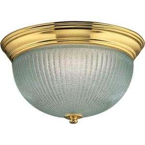 Progress Lighting Polished Brass 2 Light Flushmount P3656 10 at The