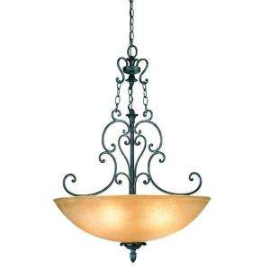 Eurofase Leah Collection 5 Light Hanging Chrome Bowl Pendant 15983 015