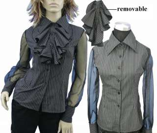 SB4, Lolita gothic black women corset shirt