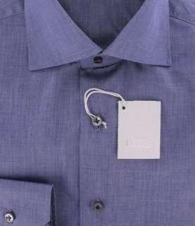 New $325 Barba Napoli Navy Blue Shirt 16/41