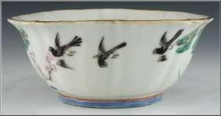 Fine 19thC Antique Chinese Famille Rose Bowl w/ Monkeys & Deer