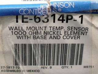 Johnson Controls TE 6314P 1 Temperature Sensor temp