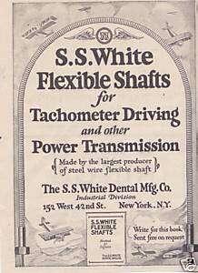 1930 ad s s white dental mfg co