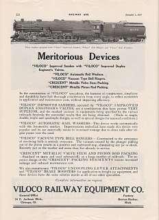 1927 Viloco Ry Equipment Ad Union Pacific Railroad #8000 4 12 2 Type