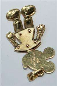 18K GOLD MICKEY MOUSE DISNEY COLLECTION PENDANT CHARM