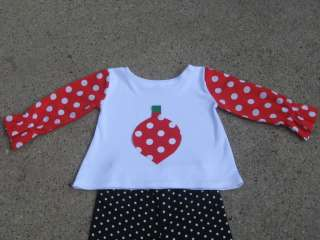 Custom Boutique Christmas Top And Pants 12 M to 6 Years