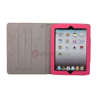 Cute Little Witch Leather Smart Case Cover Stand for iPad 2 Pink