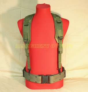 Military Army LC2 Pistol Belt & LBE Suspenders LARGE