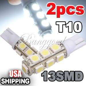 T10 194 168 5050 13 SMD LED White Car light Bulb lamp