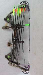 Mathews Solo Cam Drenalin Compound Bow w/ Quiver, 6 Arrows, and Sight