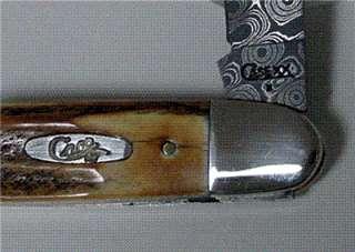 CASE XX STAG DAMASCUS CIGAR WHITTLER #6096
