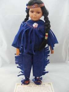 VTG Ashley Belle Indian Porcelain Doll COA 1968