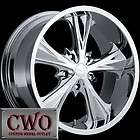 20 Chrome Panther Juice Wheels Rims 5x127 5 Lug Chevy GMC C1500 Jeep