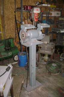 Delter Pedistal Belt Grinder with lights