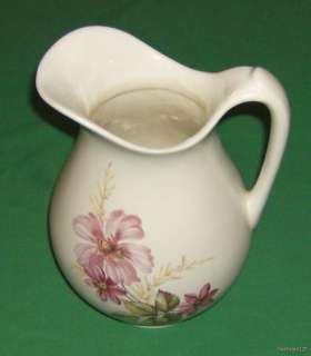 Nice Large Floral Decorated Ceramic Pitcher