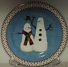 debbie mumm snowman plate
