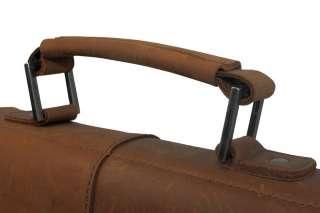 Vintage Mens Genuine Cowhide Leather Shoulder School Bag Satchel iPad