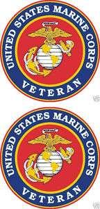 United States Marine Corps Veteran Window Decal USMC